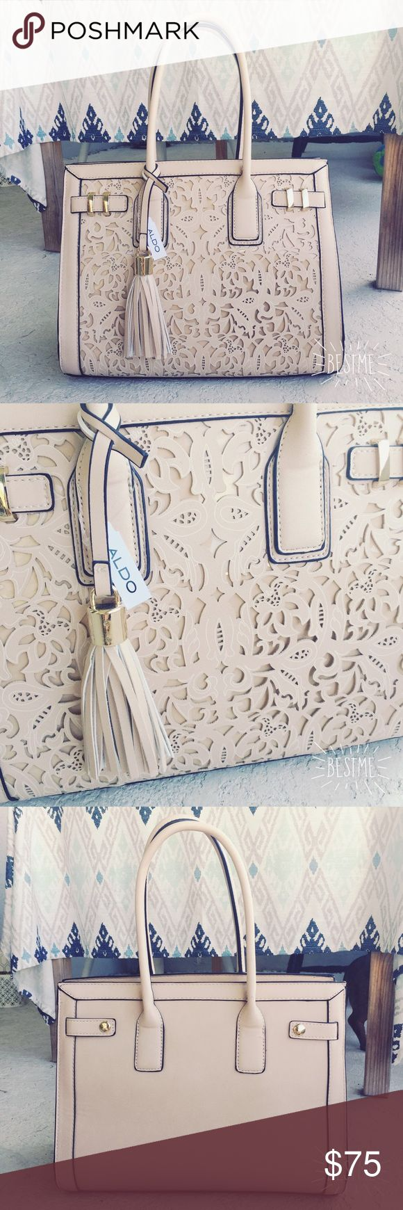 Also handbag with fringe charm, BNWT Also handbag with fringe charm, BNWT! Item is brand new with tags and never used. Comes with adjustable shoulder/crossbody strap. No trades. Aldo Bags Satchels