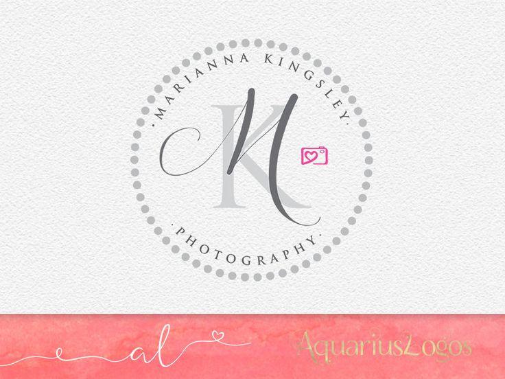 Fotografie logo ontwerp  initials kalligrafie logo  DIY psd