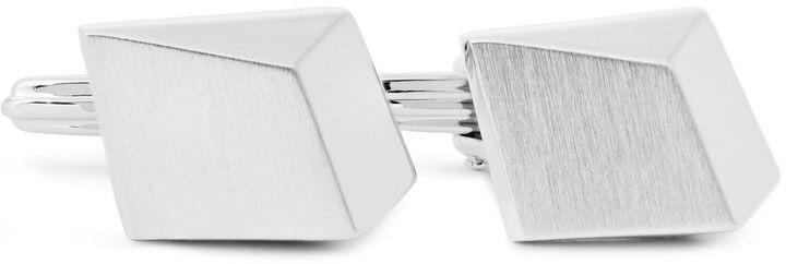 Lanvin Brushed Silver-Tone Cufflinks