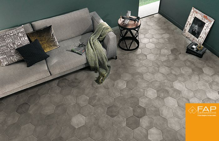 Elegant and brilliant floor #Firenze shade Grey, surprising for refined simplicity and naturalness of the material.