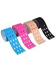 LIOOBO Colorful Sports Muscle Tape Cotton Waterproof Perforierte Elastic Adhesiv…