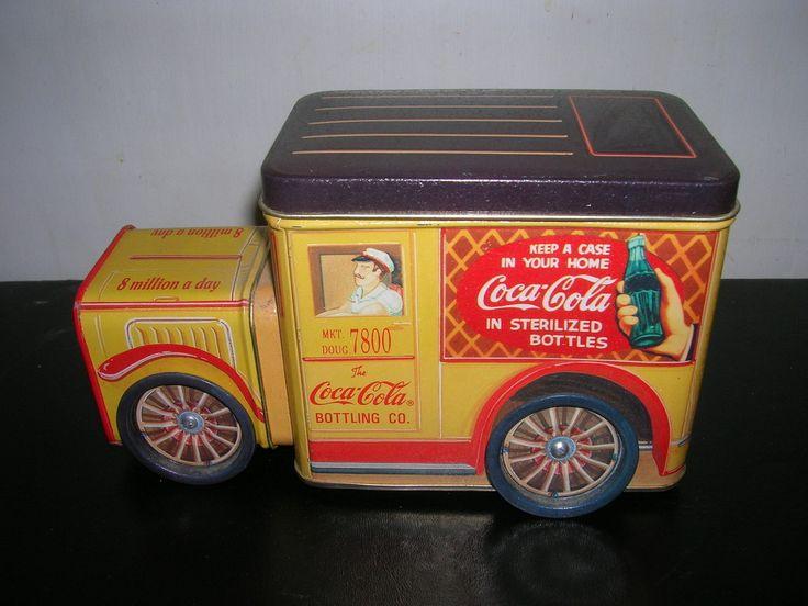 Coca-Cola Old Truck scatola di latta vintage