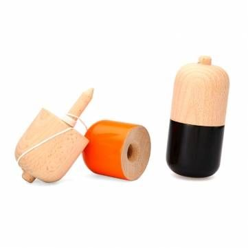 Wooden Pill Kendama Toy Traditional Sport Skill Game