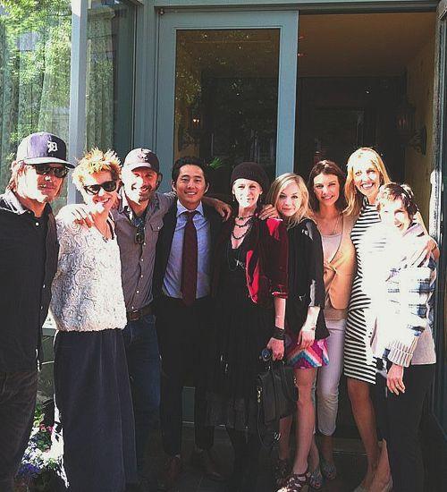 Norman Reedus, Andrew Lincoln, Steven Yeun, Melissa McBride, Emily Kinney, Lauren Cohan, Denise Huth, and Gale Anne Hurd on 5/25