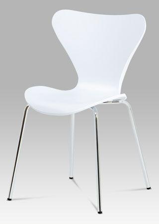 AURORA WT Jídelní židle v moderním designu má podnož vyrobenou z chromovaného kovu. Sedák a opěradlo jsou tvořeny jedním kusem výlisku, díky svému jedinečnému vytvarování je židle pohodlná. Židle je dodávána v bílé barvě s dekorem dřeva. Vhodná do jídelny, pracovny nebo zasedacích místností. Nosnost této židle je do 100 kg