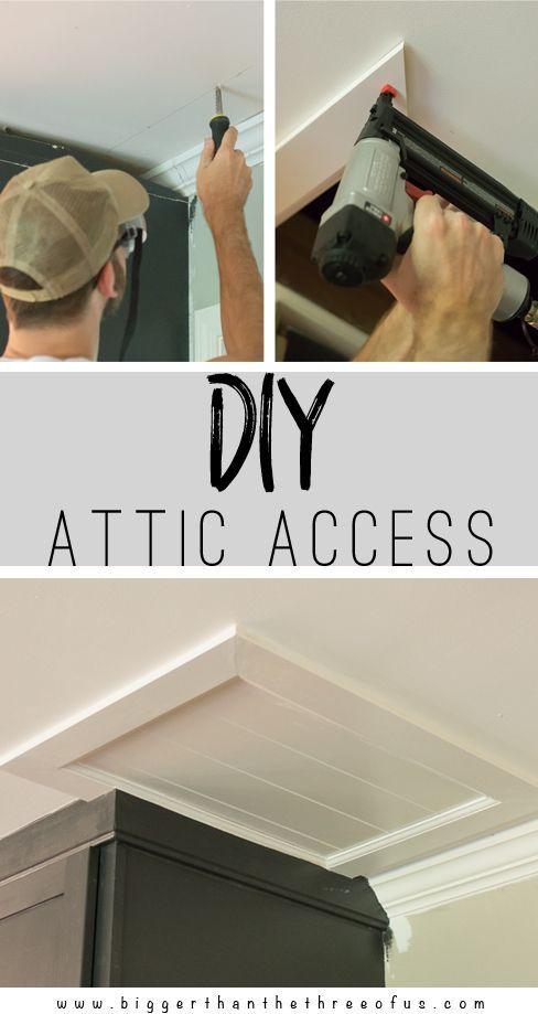 Diy Attic Access Attic Remodel Attic Renovation Attic
