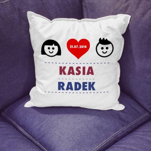 Wyznaj miłość swojej drugiej połówce w szczególny sposób - poduszka z Waszymi imionami oraz szczególną datą czy tekstem! http://bit.ly/1ywq6rK