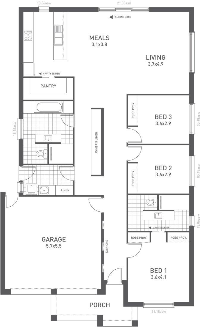 design twelve floorplan from the weeks and macklin homes. Black Bedroom Furniture Sets. Home Design Ideas