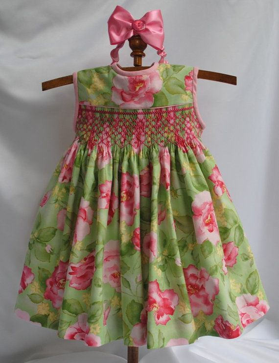 Sale!  Paris Rose Hand Smocked Baby Dress 6 by myheavenlydesigns on Etsy