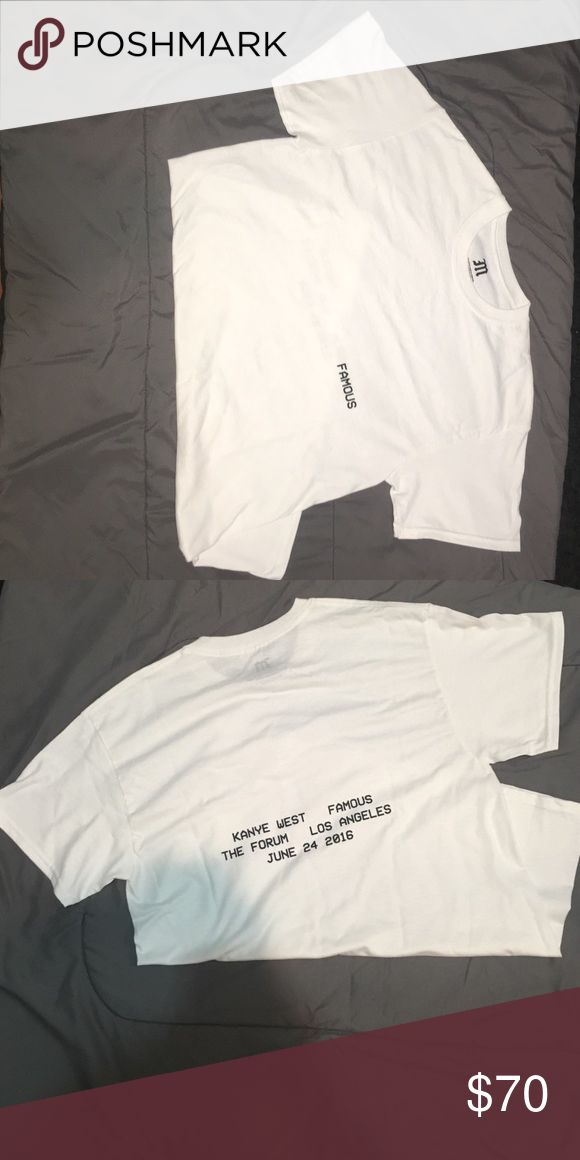 Kanye West Famous T-shirt Kanye West Famous t-shirt, exclusive , sold out , 100% authentic, bought from famous music video debuting at the forum, never worn, brand new Tops Tees - Long Sleeve