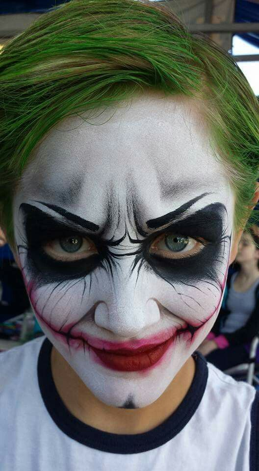 Mark Reid joker Face Painting Design