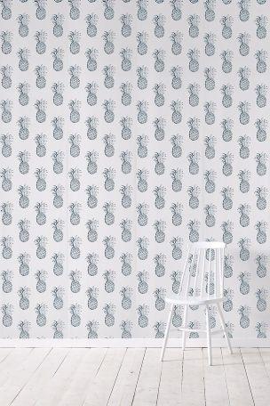 Wallpaper by ellos Carly-tapetti, petrolinvihreä