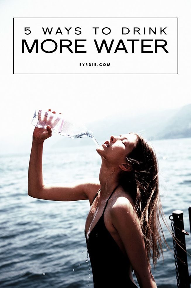 5 ways to trick yourself into drinking more water—because H20 is the ultimate beauty elixir. // #Health #Skincare