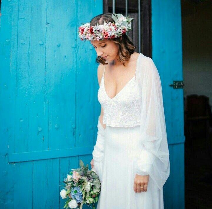 Noiva. Vestido. Renda. Campo. Dress. Bride