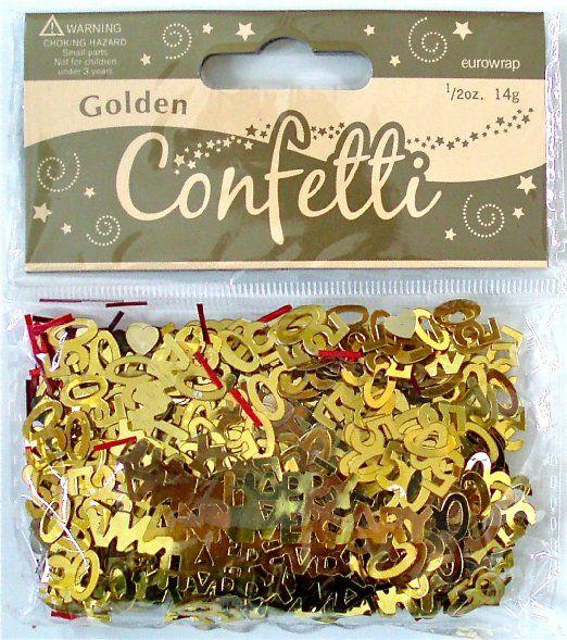 Eurowrap - Confeti dorado para 50 aniversario de bodas