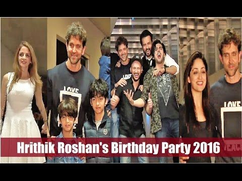 Hrithik Roshan's Birthday Party 2017 with close friends & family | Full Uncut Video. Click here to see the full video >>> https://youtu.be/NAVbR9UQ4oQ #hrithikroshan #bollywood #bollywoodnews