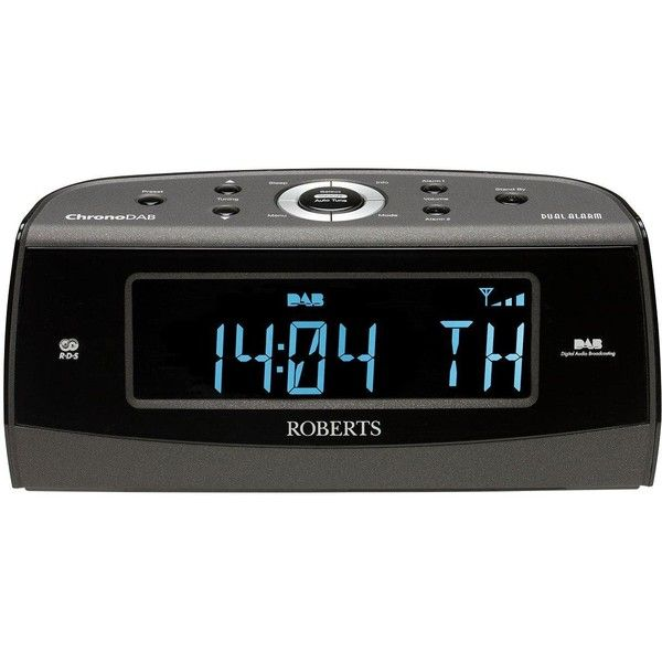 Roberts Chrono Dab Radio Alarm Clock (720 SEK) ❤ liked on Polyvore featuring home, home decor, clocks, blue digital alarm clock, digital clock alarm, radio clock, alarm-clock and radio alarm clock