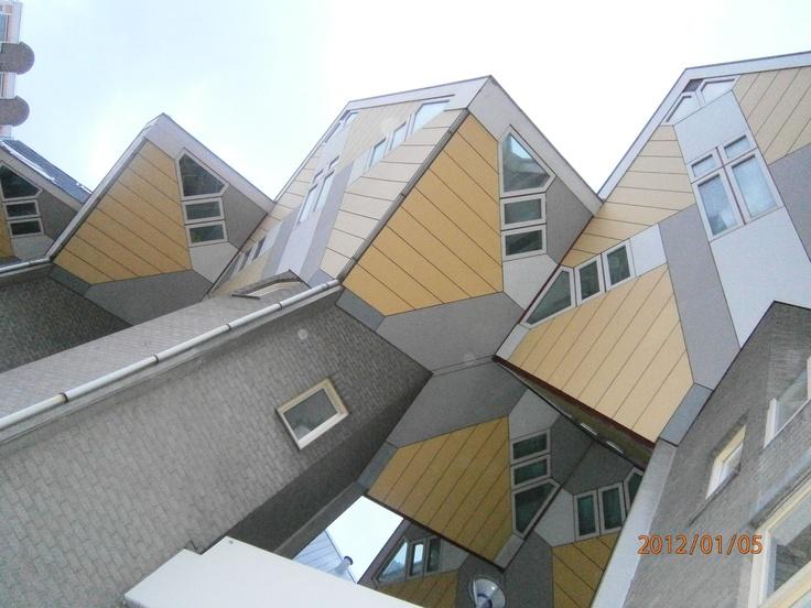 Kubuswoningen, Rotterdam, Nederland.
