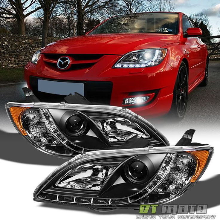 Awesome Great Blk 2004-2008 Mazda 3 Sedan 4DR Projector Headlights w/ Running Lamps Left+Right 2018 Check more at http://24go.cf/2017/great-blk-2004-2008-mazda-3-sedan-4dr-projector-headlights-w-running-lamps-leftright-2018/