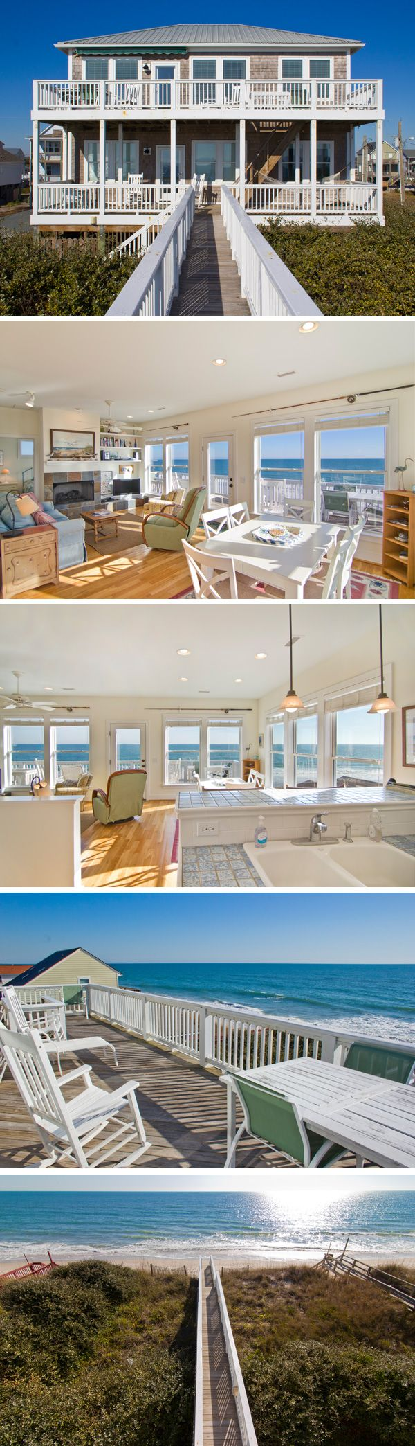 1110 North Shore Drive - Beautiful Oceanfront home on Topsail Island, North Carolina. #TopsailIsland