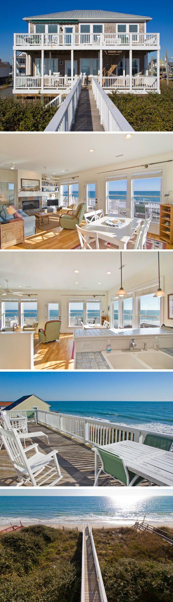 1110 North Shore Drive - Beautiful Oceanfront home on Topsail Island, North Carolina. #TopsailIsland