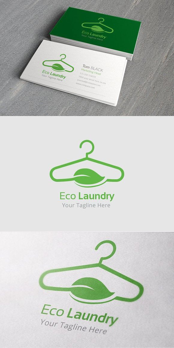 Eco Laundry Logo Template Laundry Logo Cleaning Business Cards Dry Cleaning Business