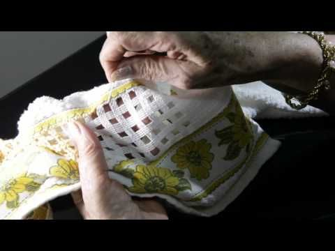 Toalha de Lavabo com Leila Jacob | Vitrine do Artesanato na TV - Rede Família - YouTube