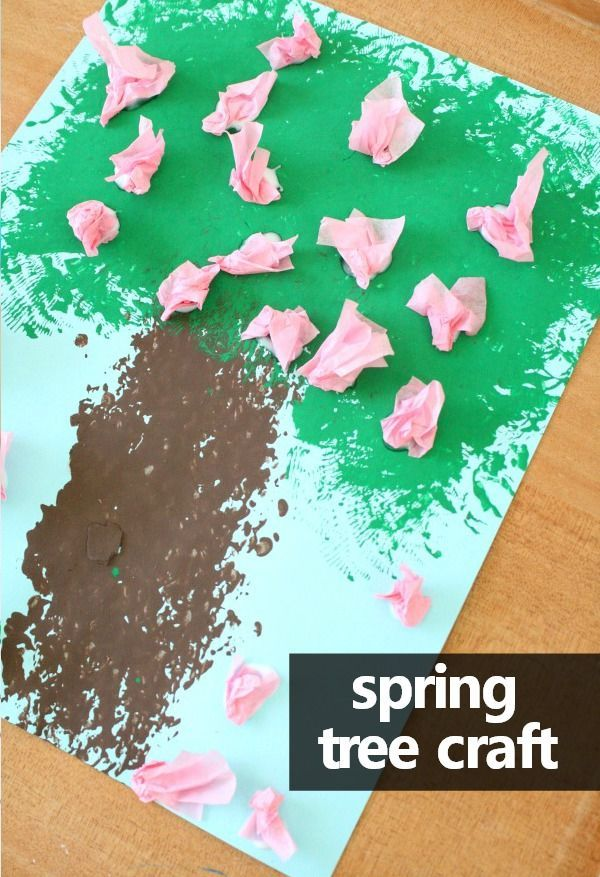 Try some fun new painting techniques as your little ones create this flowery tree spring craft for kids. It's a great activity to add to your seasons, trees, or spring theme in preschool.