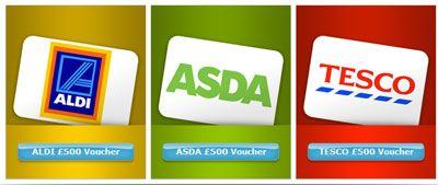 Win a £500 shopping voucher for Aldi, Asda or Tesco.