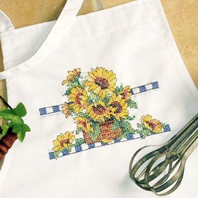 Набор для вышивания Dimensions 72773 Sunflower Apron Фартук с подсолнухами