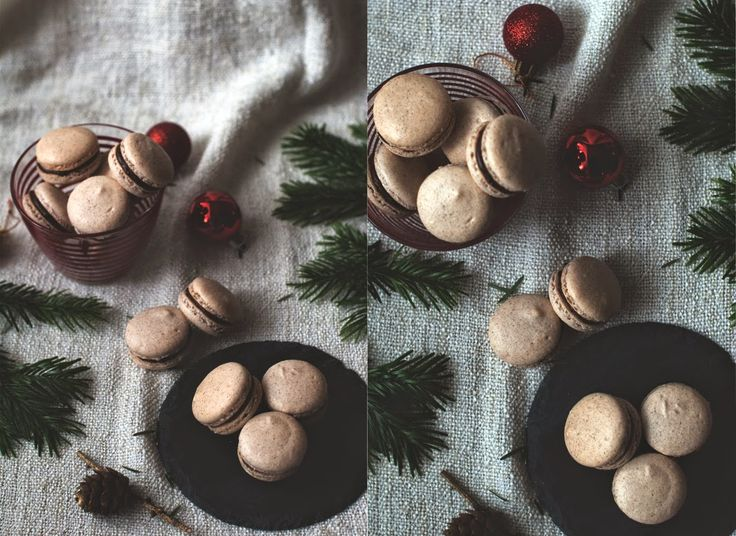 spiced macaroons with chocolate ganache - Red velvet cooking & baking