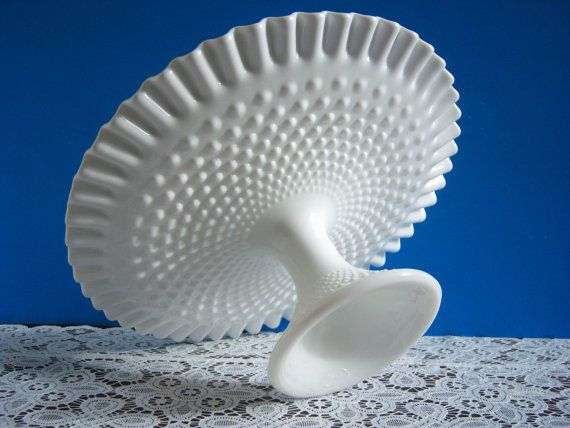 Hey, I found this really awesome Etsy listing at https://www.etsy.com/listing/165830755/fenton-hobnail-milk-glass-cake-stand
