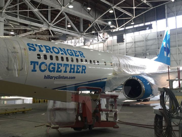 Hillary Clinton -- Facelift Time for Her Campaign Plane (PHOTO)