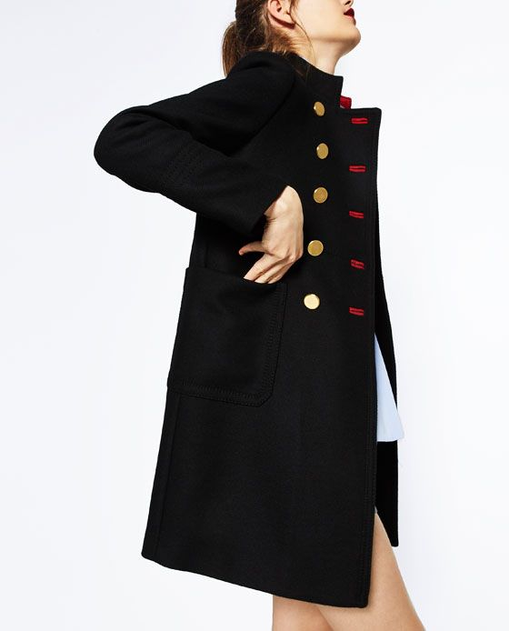 Image 6 of DOUBLE-BREASTED COAT from Zara