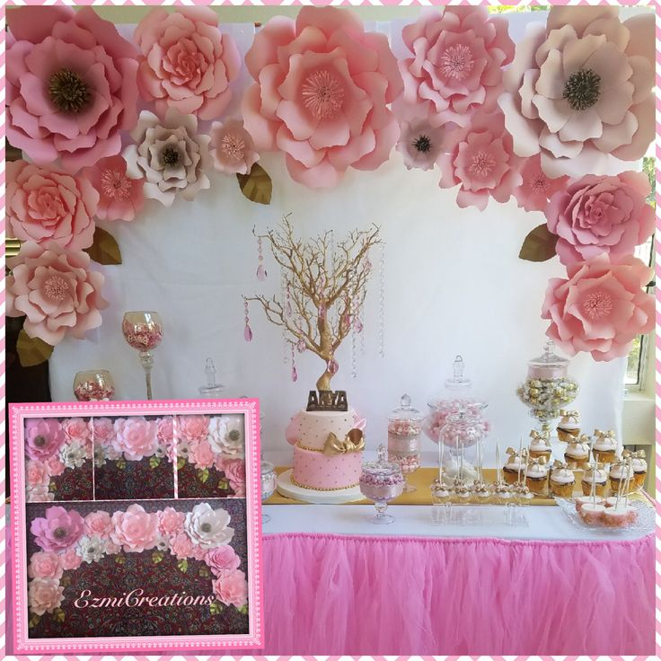 Pinks Paper flower DIY kit