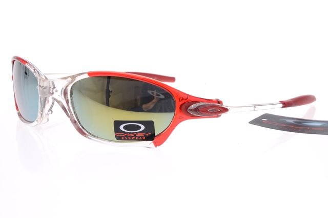 Oakley Gascan Sunglasses Red White Frame Colorful Lens 0496