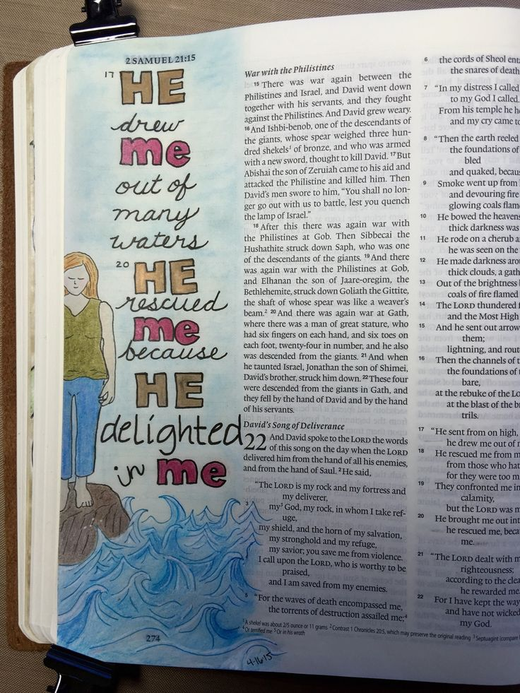 Bible art journaling 2 Samuel
