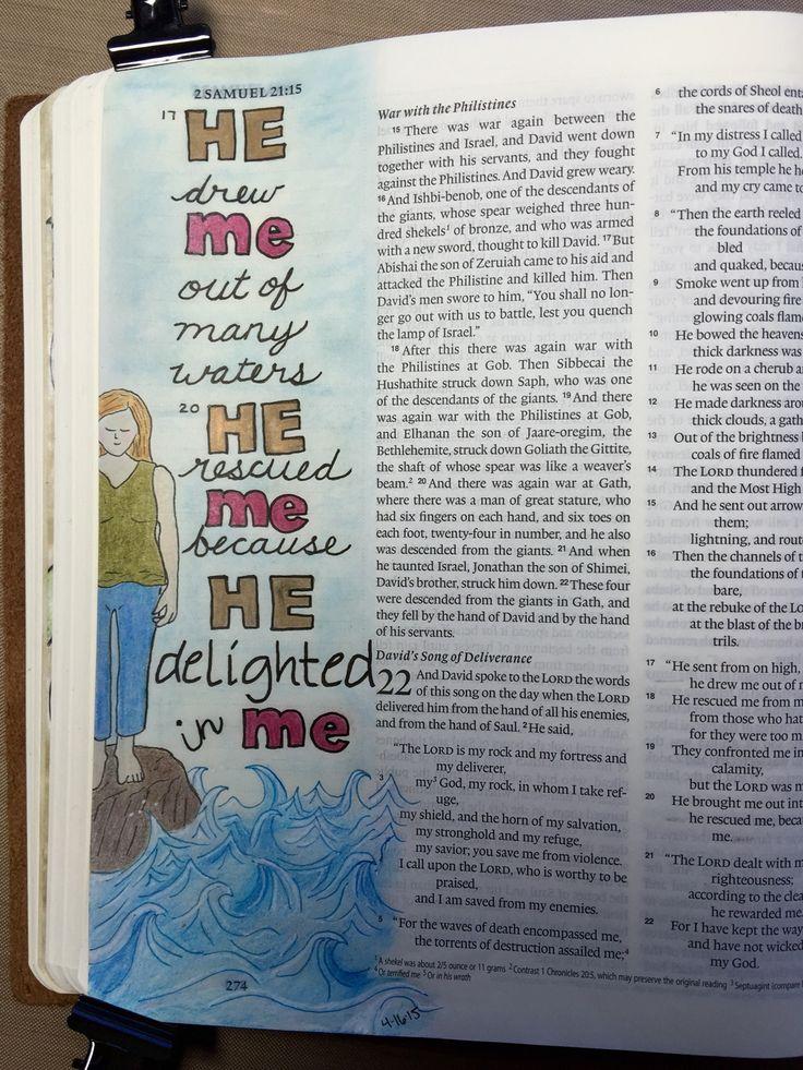 Bible art journaling 2 Samuel