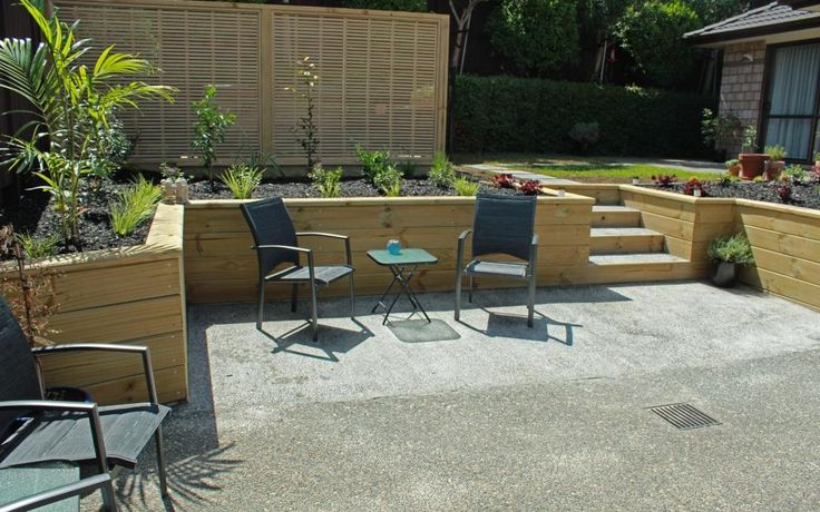 Lovely New Patio with Timber Retaining and Gardens - Dannemora