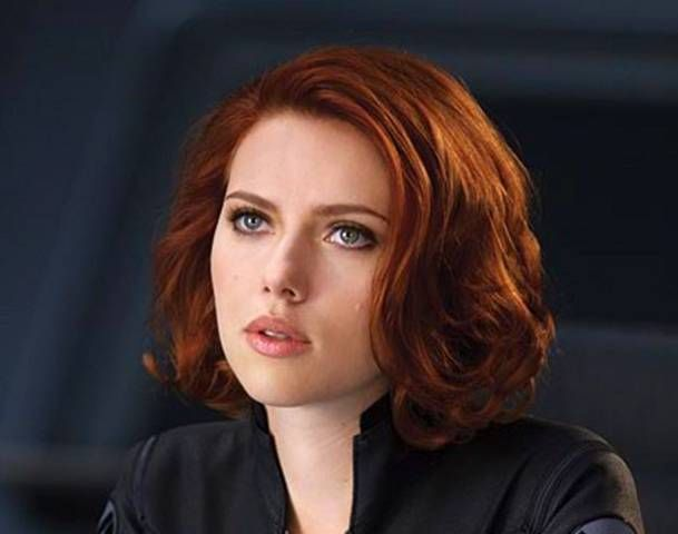scarlett johansson red hair - google