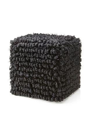 Design Accents Funberry Pouf, Black, 18