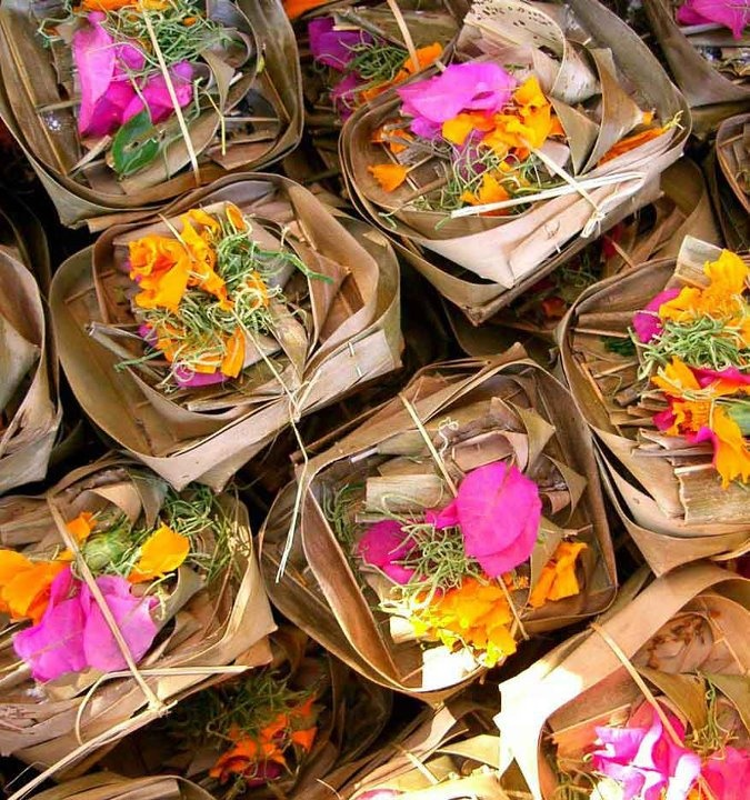 offerings for ceremonies practiced by Hindus in Bali