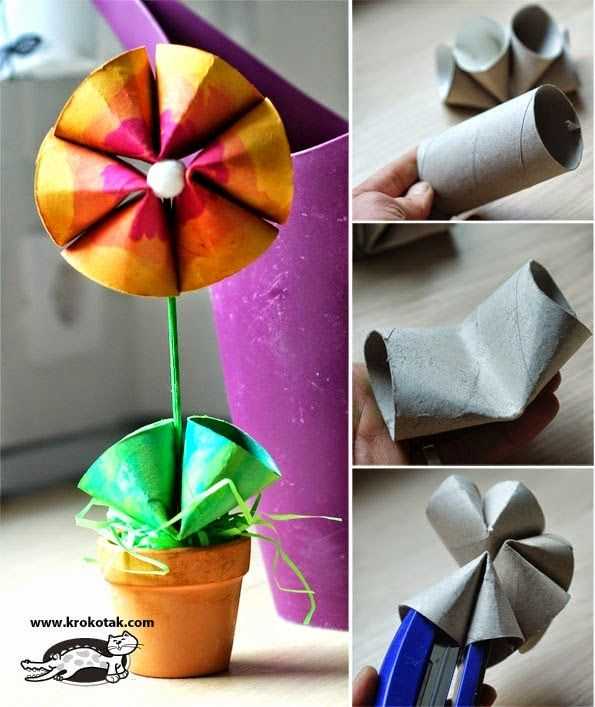 Flower craft. -Repinned by Totetude.com