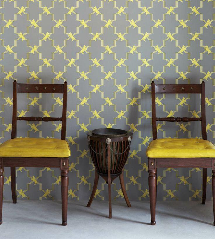 Design Classic | Retro | Horse Trellis Wallpaper by Barneby Gates | Jane Clayton