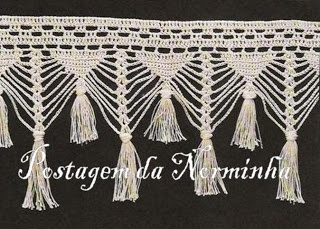 "WORKSHOP OF BARRED: Croche - Barring fringed like ""macramé"""