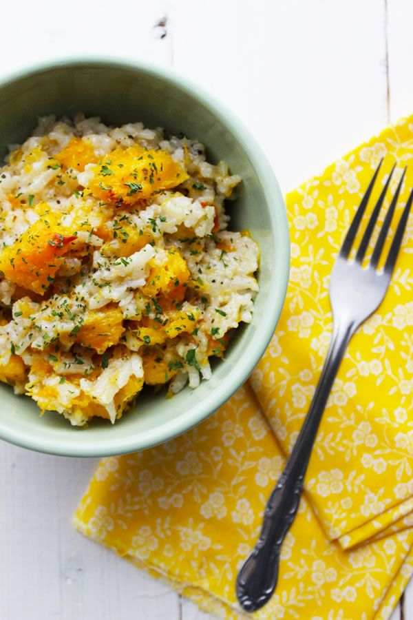 Slow Cooker Vegan Pumpkin Risotto: