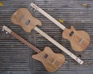 The 4-string version of my custom box guitars delivers a really full sound with lots of fretting options.