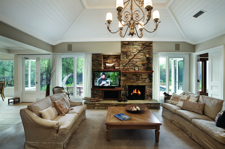 family living, living room, fire place, design, ceiling, chandelier constructed by Classic Projects