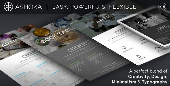 Ashoka is an One Page Multi-Purpose WordPress Template assembled utilizing most recent Bootstrap v3.x and HTML5/CSS3 highlights and suitable for innovative offices, eateries, instruction foundations, law offices, development organizations, beneficent trusts, picture takers or little business which require a quick approach to showcase their work.