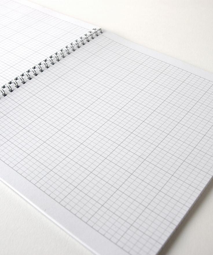 Frolic 8 x 9 Notebook, Knitter's Graph by Megan Goodacre